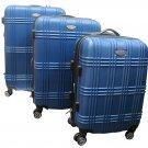 Bovano 3 Pc Hardcase Upright Luggage Set - Navy