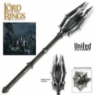 The Hobbit Mace Of Sauron With One Ring by United Cutlery with Certificate of Authenticity