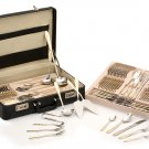 Kitchen Pride 72 Piece Gold Plated Flatware Set with Briefcase