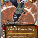 Naruto CCG Emerging Alliance 1st Ed. Super Rare Gold Foil- Earth Style: Rending Piercing Fang #J519