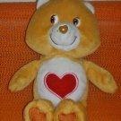 "2002 Care Bears 8"" Plush Tenderheart Bear Bean Bag Doll (Used)"
