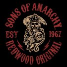 "79"" x 96"" Queen Size Son's of Anarchy Mink Blanket"