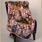 "Pink Camoflauge 40"" x 50"" Baby Mink Throw Style Blanket"