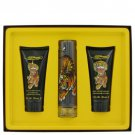 Ed Hardy By Christian Audigier Gift Set 1.7 Oz Eau De Toilette Spray, 3.3 Oz Shower Gel, Body Lotion