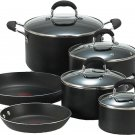 10 Piece Black T-fal E938SA Professional Total Nonstick Thermo-Spot Heat Indicator Cookware Set
