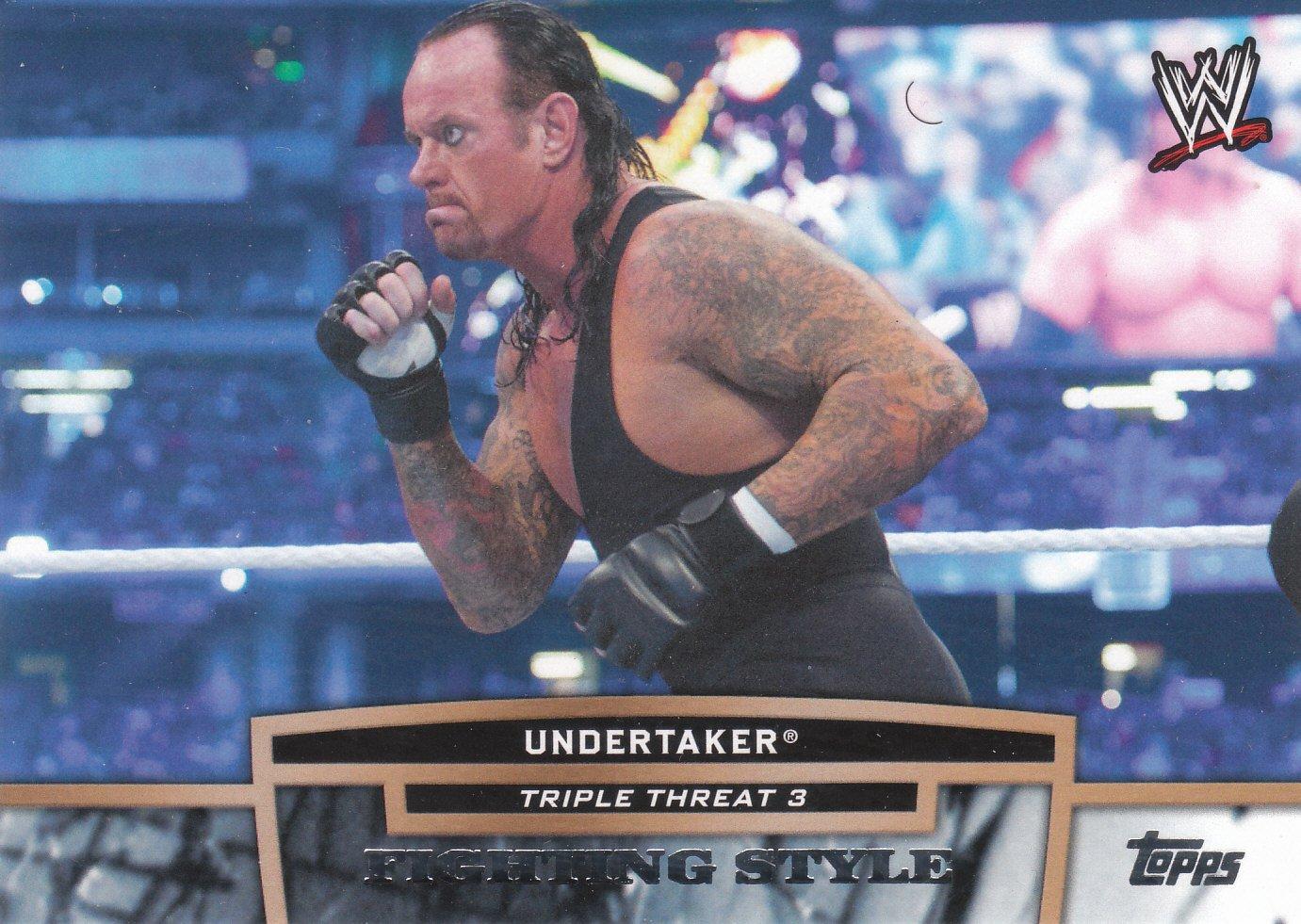 Undertaker 2013 Topps WWE Triple Threat Tier Three #TT28
