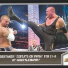 2013 Topps Best of WWE Blue #108 Undertaker Defeats CM Punk for 21-0 at WrestleMania