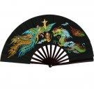 Dragon vs Phoenix Vivid Color Bamboo Fighting Fan
