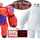 Big Hero 6 Baymax and Baymax & Mochi Action Figures Gift Set Bundle