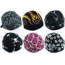 6pc Assorted Cotton Motorcycle Biker Skull Caps