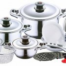 Hoffmayer 19 Piece Stainless Steel 7 ply Waterless Cookware Set