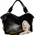 Marilyn Monroe Forever Beautiful Extra Large Handbag- Black