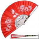 Tessen-Jutsu Training Red Dragon Iron Fan