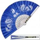 Tessen-Jutsu Training Blue Dragon Iron Fan