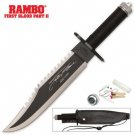 Rambo First Blood II Limited Signature Edition Replica Knife with Survival Kit