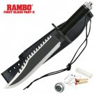 Rambo First Blood II Standard Edition Replica Knife with Survival Kit