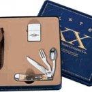 Case XX Hobo Knife Gift Set with Brushed Finish Zippo Lighter
