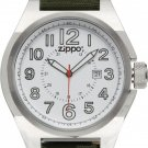 Men's Zippo Olive Drab Green Fabric Band with White Dial Sport Watch