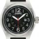 Men's Zippo Black Silicone Band with Black Dial Sport Watch