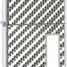 Engine Turned Star Pebble Special Edition Armor Finish Zippo Lighter with Engraving Panel