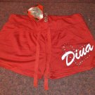 True Rock Stretch Beach Gym Booty Dancer Workout Yoga Sexy Hot Pants- Red Diva Heart Size Petite L