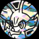2015 Fennekin Silver Cracked Ice Holofoil Pokemon Collector Coin