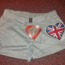 True Rock Stretch Beach Gym Dancer Workout Yoga Sexy Hot Shorts Grey Union Jack Size Petite S