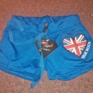 True Rock Stretch Beach Gym Dancer Workout Yoga Sexy Hot Shorts Blue Union Jack Size Petite S