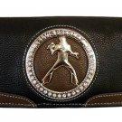 Elvis Presley Metal Branded Rhinestone Wallet- Black