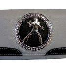 Elvis Presley Metal Branded Rhinestone Wallet- Grey