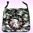 Betty Boop Synthetic Leather Messenger Bag- Camouflage Print
