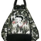 Betty Boop Synthetic Leather 4 in 1 Bag- Camouflage Print