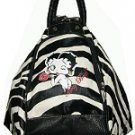 Betty Boop Synthetic Leather 4 in 1 Bag- Zebra Print