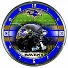 "Baltimore Ravens Retro Classic Trendy 12"" Round Chrome Wall Clock"