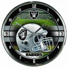 "Oakland Raiders Retro Classic Trendy 12"" Round Chrome Wall Clock"