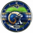 "St. Louis Rams Retro Classic Trendy 12"" Round Chrome Wall Clock"