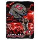 "Tampa Bay Buccaneers Sky Helmet Series Royal Plush Raschel 60"" x 80"" Blanket"
