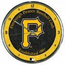"Pittsburgh Pirates Retro Classic Trendy 12"" Round Chrome Wall Clock"