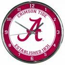 "Alabama Crimson Tide Retro Classic Trendy 12"" Round Chrome Wall Clock"