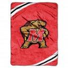 """University of Maryland Royal Plush Raschel 60"""" x 80"""" Blanket"""