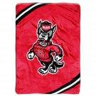 "North Carolina State University Royal Plush Raschel 60"" x 80"" Blanket"