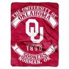"""University of Oklahoma Royal Plush Raschel 60"""" x 80"""" Blanket"""