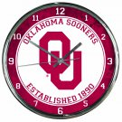 "Oklahoma Sooners Retro Classic Trendy 12"" Round Chrome Wall Clock"