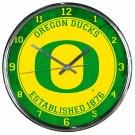 "Oregon Ducks Retro Classic Trendy 12"" Round Chrome Wall Clock"