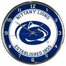 """Penn State Nittany Lions Retro Classic Trendy 12"""" Round Chrome Wall Clock"""