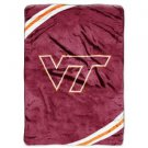 "Virginia Tech University Royal Plush Raschel 60"" x 80"" Blanket"
