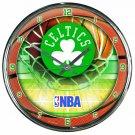 "Boston Celtics Retro Classic Trendy 12"" Round Chrome Wall Clock"