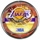 "Los Angeles Lakers Retro Classic Trendy 12"" Round Chrome Wall Clock"