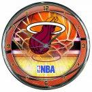 "Miami Heat Retro Classic Trendy 12"" Round Chrome Wall Clock"
