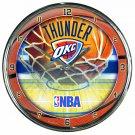 """Oklahoma City Thunder Retro Classic Trendy 12"""" Round Chrome Wall Clock"""
